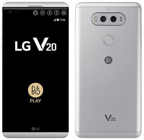 Déverrouillé LG V20 téléphone mobile 4 Go de RAM 64GB ROM Quad Core Snapdragon 820 5.7 '' 16MP + 8MP caméra d'empreintes digitales 4G LTE téléphone remises à neuf