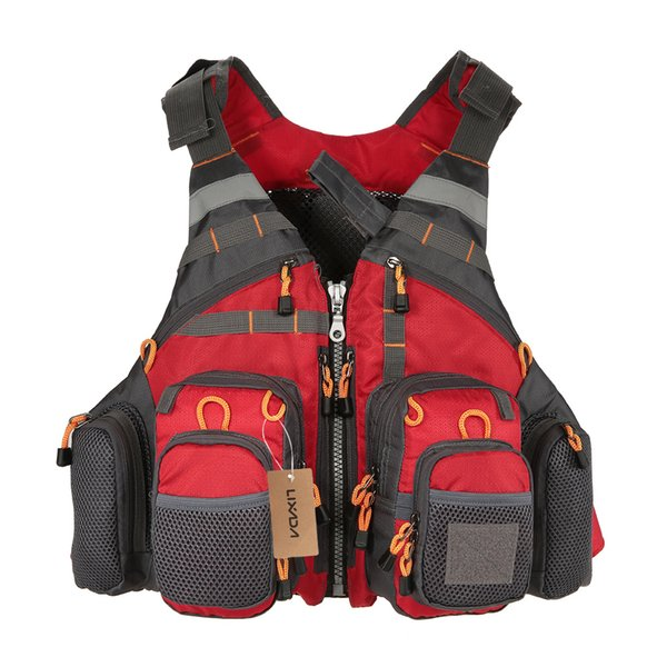 Fly Fishing Vest Adjustable Mesh Mutil-Pocket Outdoor Sport Life Safety Jacket Swimming Sail for Pesca fishing clothes