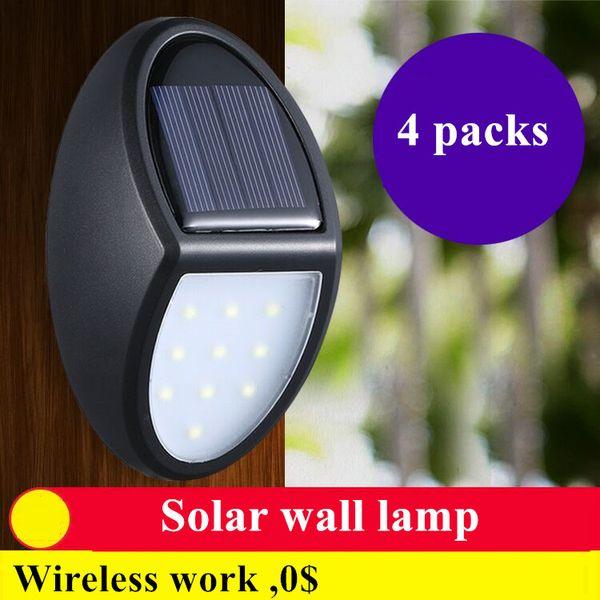 Luzes solares À Prova D 'Água Ao Ar Livre Movido A Energia Solar Lâmpada Sem Fio Sensor De Movimento Solar Luzes De Segurança Montagem Na Parede Lâmpada Decorativa