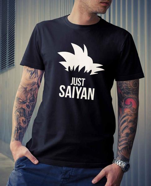 Novelty Gift Geek Nerd DBZ Anime Manga TV Dragon Ball Z Just Saiyan T-Shirt