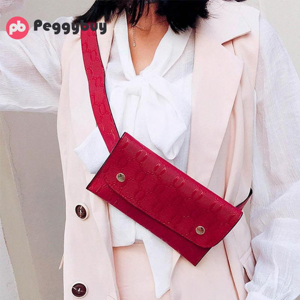 Women Chest Pack Small Fanny Pack for Women Leather Bum Bag Bolsa Punk Messenger Ba Bag Phone Leather Chest Handbag Heupta