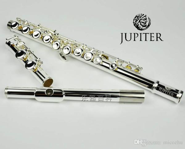JUPITER JFL-511ES 16 Holes Closed C Key Flute Cupronickel Silvering Concert Flute Case Cleaning Cloth Stick Gloves Padded Bag