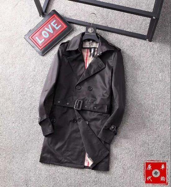 2018 printemps et l'automne en cuir de la mode des marchandises de revers des ongles version coréenne de la veste-42 mince trench-coat hommes