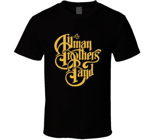 Allman Brothers Band Logo preto camiseta Branca dos homens T shirt frete grátis