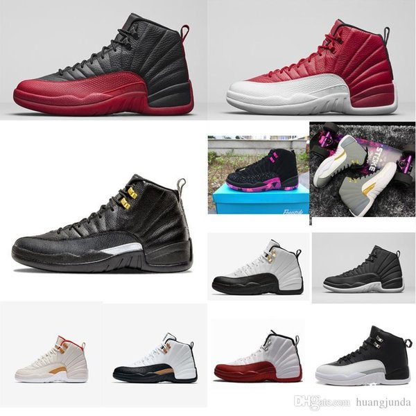 Cheap Mens Jumpman 12 XII basketball shoes 12s Red Nylon Black Master Bred Taxi Gold Grey CNY air flights j12 sneakers boots tennis for sale