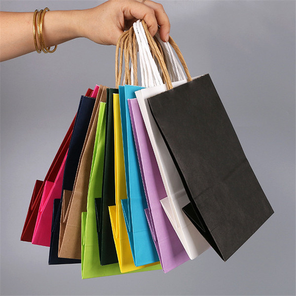 3 Size Fashionable kraft paper gift bag with handle/shopping bags/Christmas packing bag/Excellent quality LZ1342
