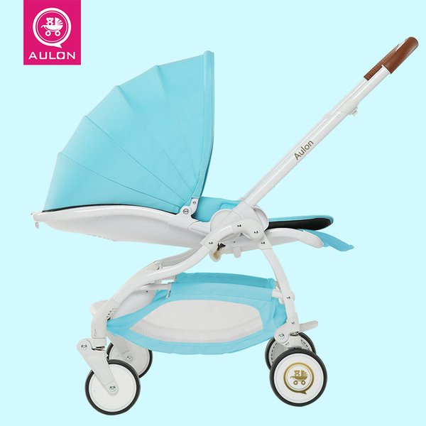Light Baby Stroller, Four-wheel Suspension, Fast-folding, Sit & Lie Down, Aluminum Alloy, Two-Direction, Pram, Pushchair.