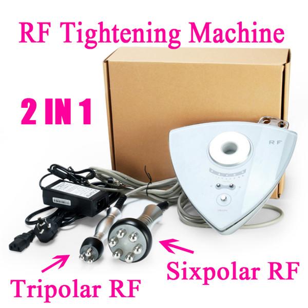 Portátil 2 Em 1 de Rádio Freqüência de Aperto de Rosto de Aperto de Rosto Uso Doméstico RF Máquina de Cuidados Com A Pele RF Máquina de Freqüência De Rádio Corpo Facial Máquina