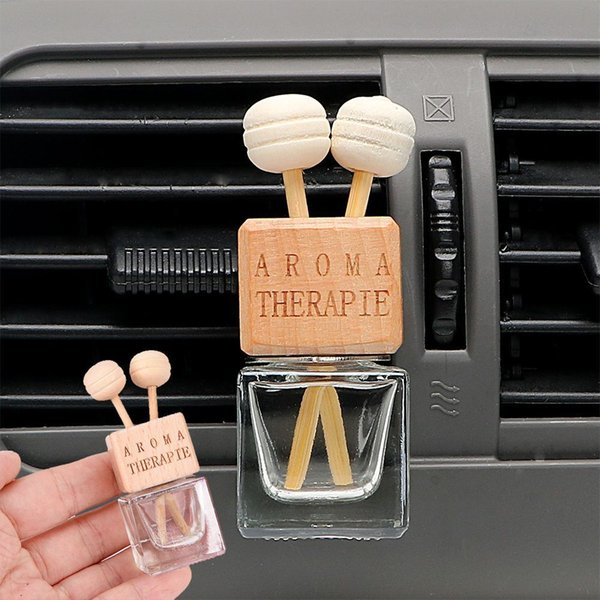 top popular Car Air Freshener Hanging Glass Bottle for Essential Oils Car Perfume Bottle Crystal Car-styling Auto Ornament Perfume Pendant 2020