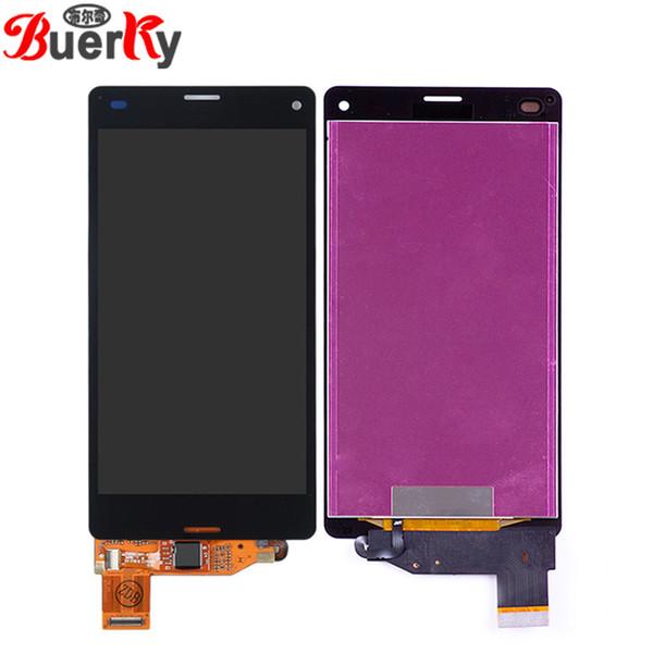 Per Sony Xperia Z3 mini Compatto D5803 D5833 Assemblaggio display LCD completo Completo di sensore touch Digitizer spedizione gratuita