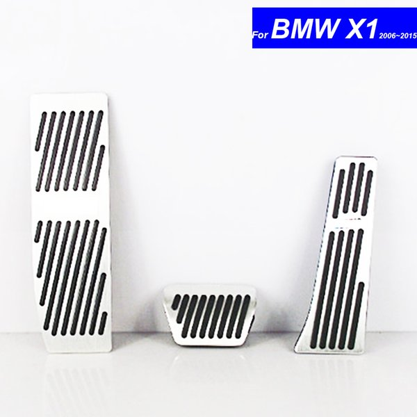 Car Petrol Clutch Fuel Brake Braking Pad Foot Pedals Rest Plate for BMW X1 2006 2007 2008 2009 2010 2011 2012 ~ 2017 Auto Pedals