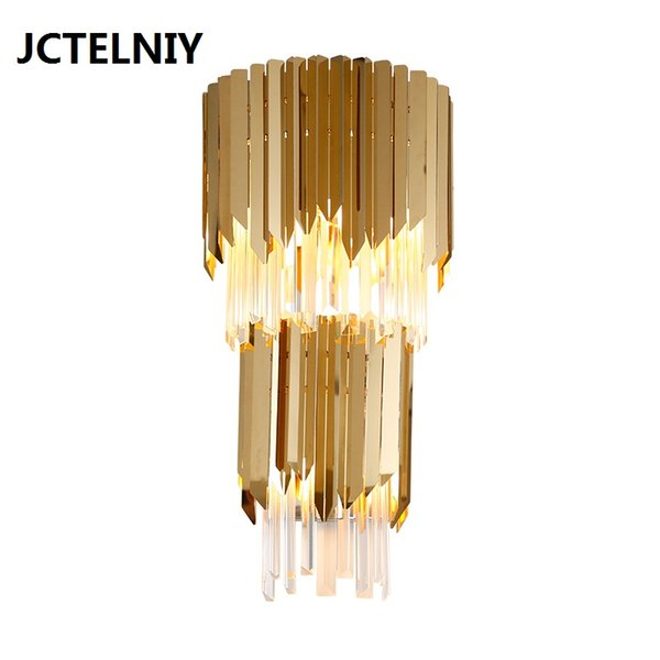 2019 Modern Crystal Wall Lamp Gold Light Luxury Bedroom Bedside Lamp Creative Personality Simple Living Room Decorative Wall Lamp From Dh532738711