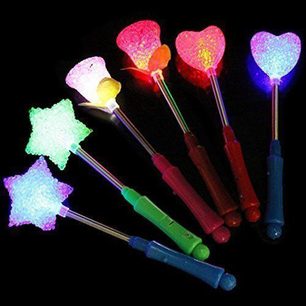 Wholesale-Star LED Toys 3 Styles Luxury LED Magic Star Wand Flashing Light Up Glow Stick For Party Christmas Colorful Light-Up Toys