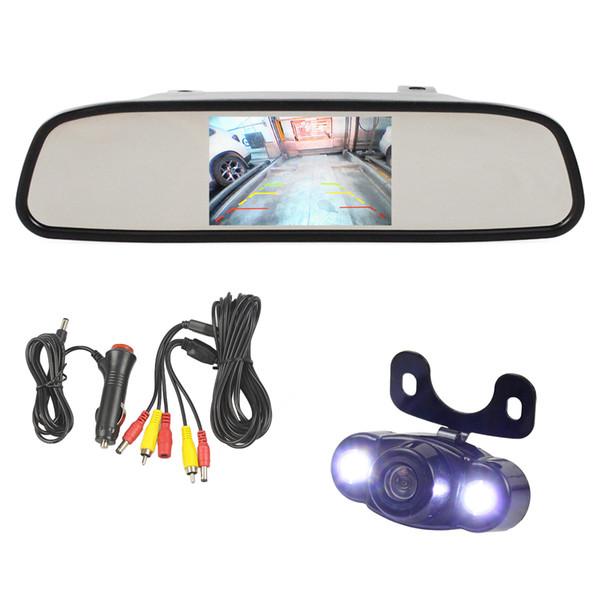 DIYKIT 4.3 inch TFT LCD Display Rear View Mirror Monitor Car Monitor LED Car Camera Parking Camera System Car Charger