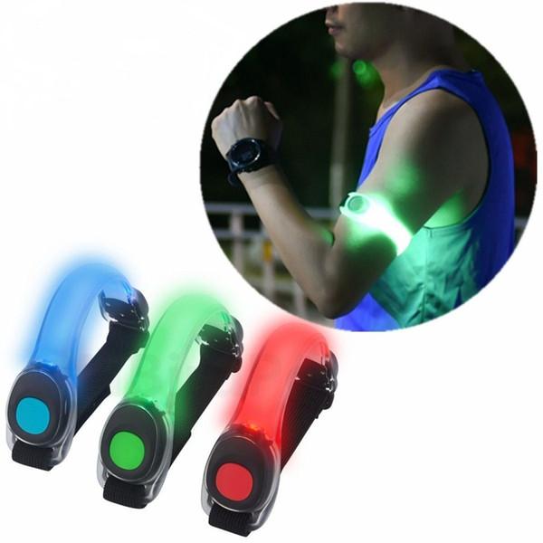 LED Safety Light Night Running Walking Cycling Warning Light Sports Wristband Luminous Arm Strap Reflective Leg Belt Waterproof Glow Armband