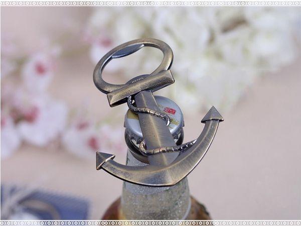 Unique Aneous Anchor en forme de bouteille de bière ouvreur Creative cadeau pour le mariage et anniversaire ouvreur vin outils de cuisson