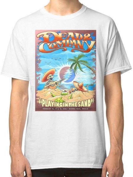 Grateful Dead Estate Società di giocare nella sabbia Messico T-shirt magliette della stampa Uomo manica corta T parte superiore della maglietta