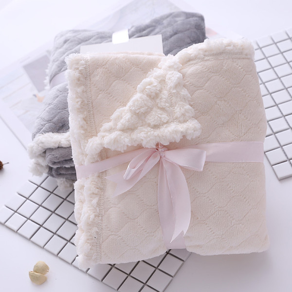 Solid knitted flannel blanket Spring & Autumn soft warm baby blankets for beds Adults Travel Airplane throw blanket portable