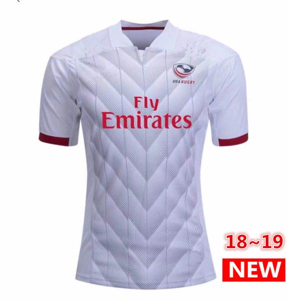 최고 품질 National Rugby League 미국 미국 럭비 유니폼 navy 2018 2019 USA 럭비 망 셔츠 사이즈 S-3XL 무료 배송