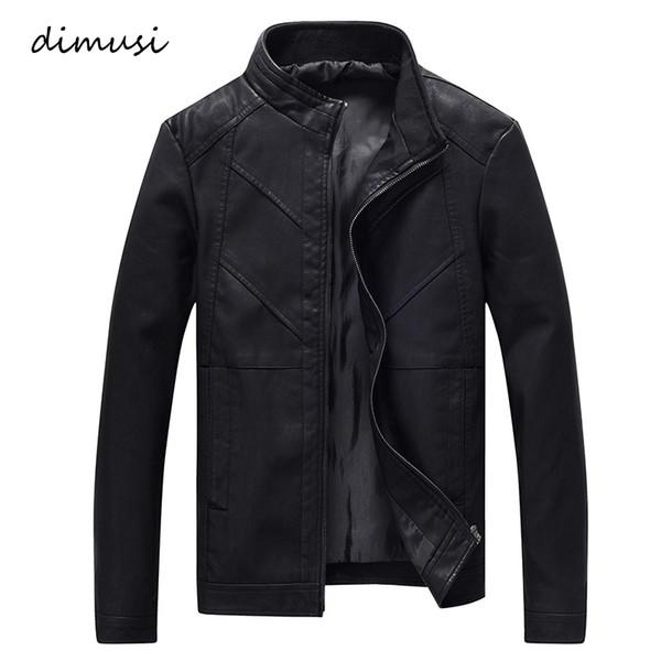 DIMUSI Mens Leather Jackets Autumn Winter Leather Coats Men Velvet Faux Biker Motorcycle Jacket Warm Male Outerwear 4XL,TA259