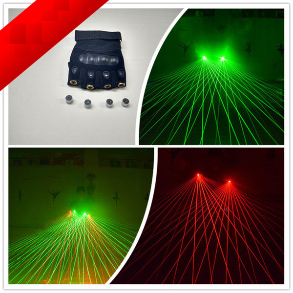 Fasci di galassia multifunzionali verdi Guanti laser rossi Dancing Stage Show Light Con 4 laser e 80 fasci di filo non esposto