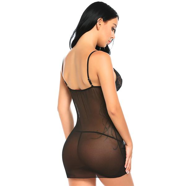 Fashion Design Sex Underwear Lingerie Sexy Hot Erotic Babydoll Dress Transparent Sleepwear Women Lace Nightwear Nightgown Porn Clothes