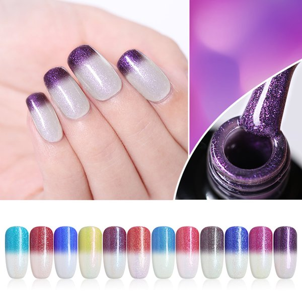 UR SUGAR 7,5 ml Temperatura Cambia colore Gel Nail Polish Luce solare Sensitive Gel UV Glitter Soak Off UV Nail Art
