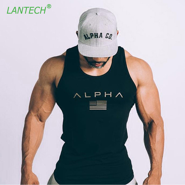 LANTECH Men Bodybuilding Muscle Workout Vest Running Sports Sportswear Run Fitness Gym Compression Tights Vest Sleeveless Tank