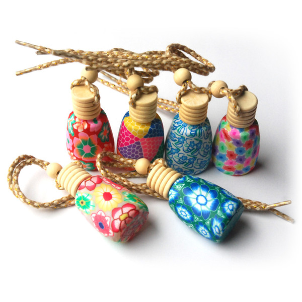 6 pieces Mixed Wholesale Essential oil diffusers / car diffuser / Polymer clay perfume bottles / A variety of styles F006005S6