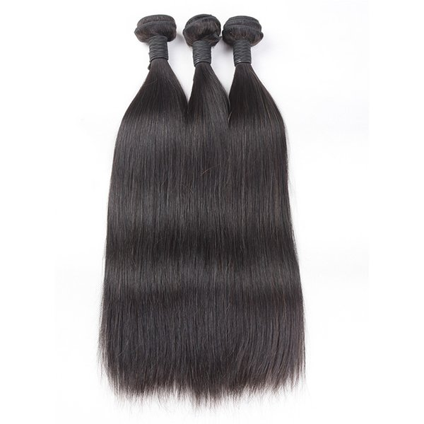 TOMO Peruvian Straight Hair Bundles Human Hair Extensions 8-26Inch 3 Bundle Deals Peruvian Virgin Hair Straight Double Weft Natural Color