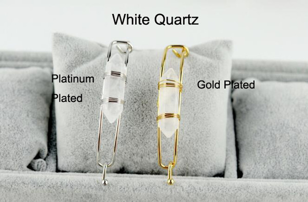 White Crystal With Gold Plated
