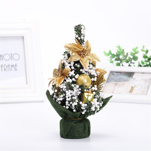 Fake Christmas Tree.Gifts For The New Year Merry Christmas Tree Bedroom Desk Decoration Toy Doll Fake Christmas Tree Happy New Year 2019 Party Xmas Shop Christmas