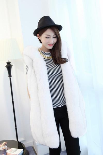 Luxury Thick Fur Jacket Angebot Faux Fur Full Coat Großhandel New Fashion Vest Frauen Lange Koreanische Version Kleidung