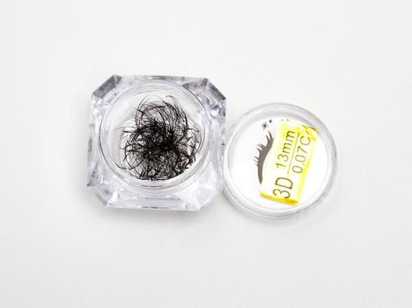 Seashine pre made fans volume silk short stem 3d eyelash fansfalse eyelash box packaging free shipping