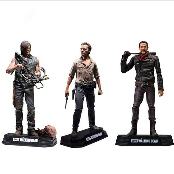 2020 The Walking Dead Pvc Action Figure Rick Daryl Negan