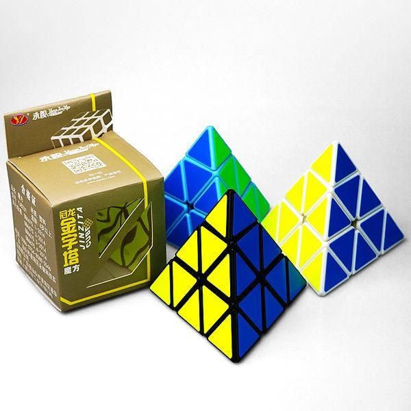 Cubo mágico Forma Pirâmide Cubo de terceira ordem Profissional Ultra-suave Velocidade Magico Cubo Torção Quebra-cabeça DIY Presentes Educacionais Brinquedo para Crianças