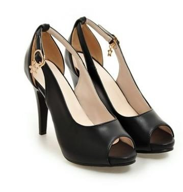wholesaler free shipping factory price hot seller peep toes black color patent leather high heel women dress shoe 189