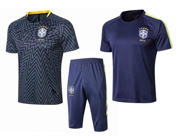 2018 World Cup National Team Brazilian Soccer Jersey Jersey COUTINHO PAULINHO MARCELO G JESUS18 19 Brazil Training Jersey Set