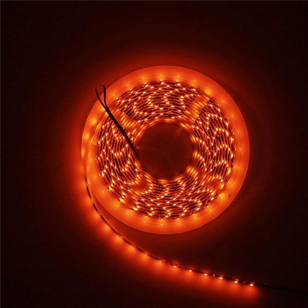 super popular 33eff 3c889 16.4ft Orange LED Flexible Strip Light Lamp 3528 SMD 5M 300 LEDs Black PCB  Waterproof IP65 12V DC For Home Hotels Clubs Shopping Malls Cars Strip ...