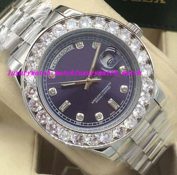 Luxury Watches 5 Style 41MM Bigger Diamond Dial/bezel 218348 NEW Automatic Fashion Brand Men's Watch Wristwatch