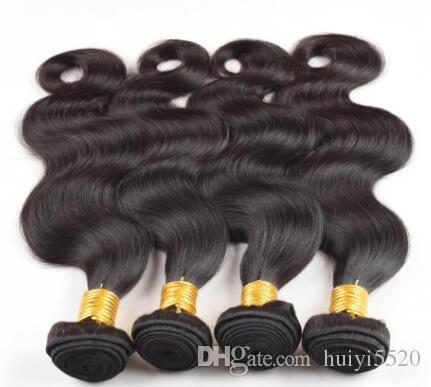 Brazilian Body Wave Hair Extension Human Hair Bundles 100% Non Remy Hair Weaves Nature Color Free Shipping