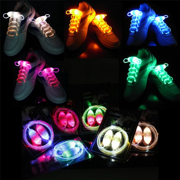 Venta al por mayor 100pair 80CM Led Light Glow Shoelace Glow Stick intermitente de color neón Shoelace Lacesous Laces Party en todo el mundo
