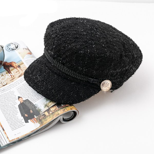 31ebd0ef58a Hot stamping visor military cap women hat Autumn winter cotton fashion  ladies cap Vintage England style