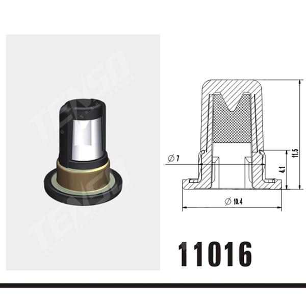 Freies verschiffen Hohe qualität 100 stück einspritzventil metallfilter kraftstoffeinspritzventil filter Für nissan ersatz Fuel Injector reparatur kits 11016