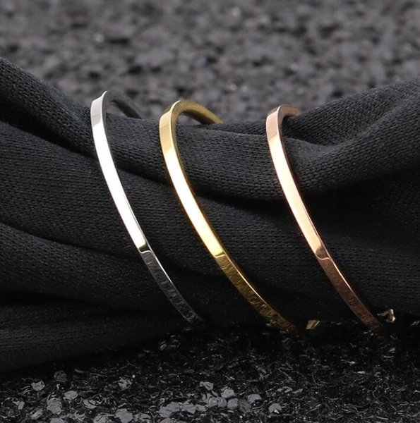 steel_love_you 1mm Stainless Steel Women's Plain Band Knuckle Stacking Midi Rings Comfort Fit Silver/Gold/Rose Tone