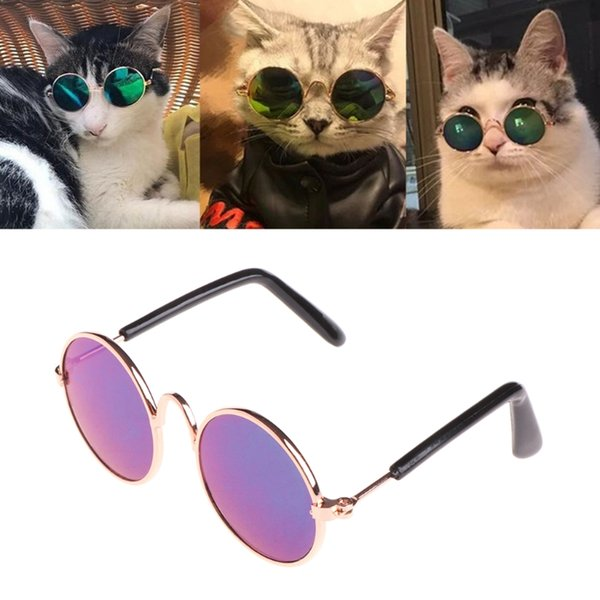 Fashion Glasses Small Pet Dogs Cat Glasses Sunglasses Eye-wear Protection Pet Cool Glasses Pet Photos Props color randomly