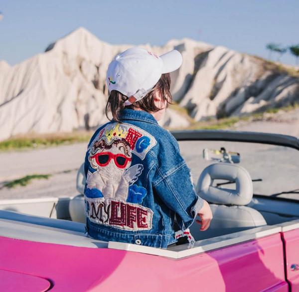 Chaqueta de desgaste de los niños 2018 New Boys Otoño Wear Girls Coat niños coreanos temperamento del comercio exterior de algodón bebé chaqueta de mezclilla marea al por mayor