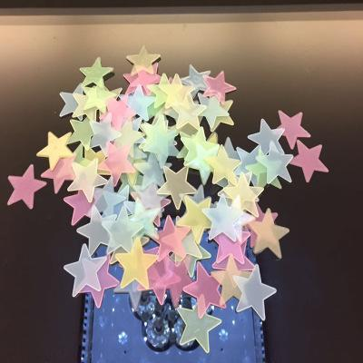 Wholesale 100pcs/lot Glowing Star Lumious Stickers Wallpaper Wall Picture Art Room Home Decor Kitchen Accessories Household Crafts Suppllies