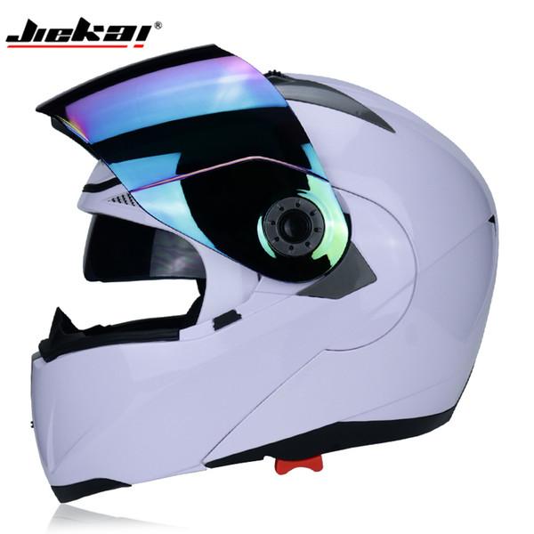 JIEKAI ABS safety flip motorcycle helmet four seasons double lens sun visor motorcycle racing helmet motocicleta casco