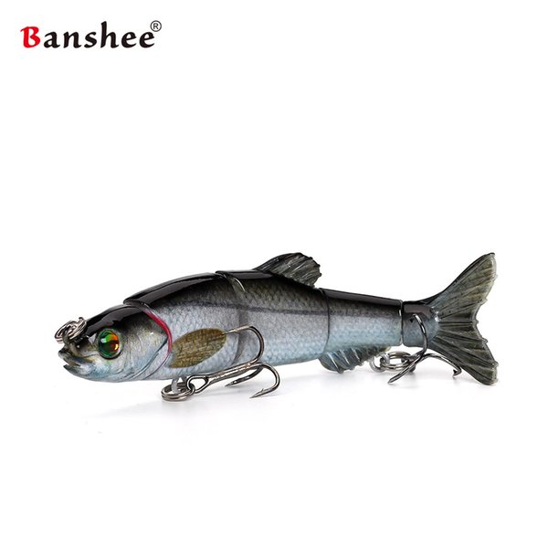 Banshee 100mm 10g Señuelos de pesca VMJM05-4.5 Swimbait articuladas Secciones de cebo artificial duro Bass Pike Walleye Fishing Wobbler Y1890402